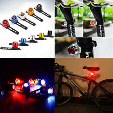 Bike Bicycle Helmet Red LED Rear Light 3 Modes Safety Tail Lamp
