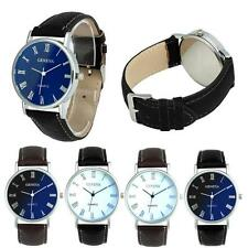 Geneva Casual Men Women Couple Watches Blue Ray Glass Quartz Analog Wrist Watch