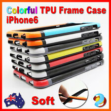Soft Silicone Plastic TPU Slim Frame Gel Skin Cover Case for Apple iPhone 6 4.7""