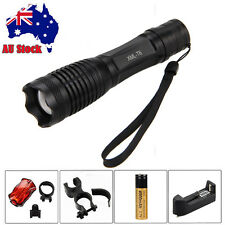Zoomable 2500Lm CREE XM-L T6 LED  Focus Flashlight  Torch Light 18650 Lamp Mount