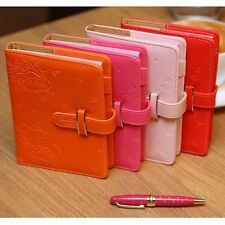 Rabbit Leather Colorful Notebook Schedule Monthly Planner Diary Journal Memo Pad