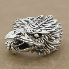 Huge Heavy Cool 925 Sterling Silver Eagle Mens Biker Ring 9M006 US Size 7.5~13.5