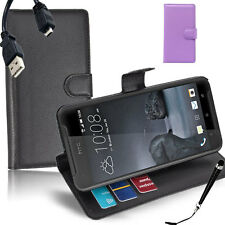 HQ Wallet Money Card Leather Case Cover For HTC One X9 + Sytus & Cable