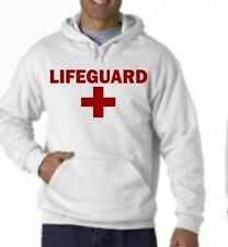 LIFEGUARD HOODIE HOODY JACKET SWEATSHIRT LIFE GUARD Pools Beaches Safety YMCA
