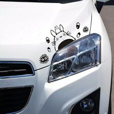 Totoro Cat Elf Eyelid Eyebrow Windows Glass Random Body Wall Decals Car Stickers