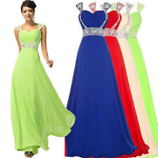 GK Long Chiffon Sequined Wedding Dress Evening  Party Formal Cocktail Prom Gown