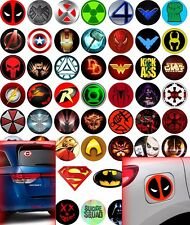 Stickers on truck car skateboard super hero logo marvel Batman Superman Deadpool