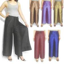 Silk Trousers for Women Ladies Wrap Pants Wide Leg Flared Palazzo Sarong Hippie