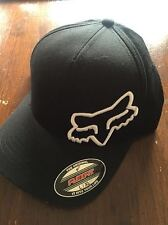 Fox Flex 45FF Cap Hat Black White Not Flat Peak MX