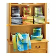 Kitchen 14 Piece Cotton Towel Dish Cloth Set Waffle Weave Colorful Cleaning Wash