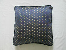 Asian Oriental Ethnic Indian Faux Silk Diamond Cushion Cover Navy Blue Gold 18