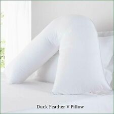 Duck feather Back Neck Nursing Support Orthopaedic, pregnancy V- Shape pillow