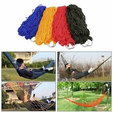 Portable Nylon Hanging Mesh SleepingBed Swing Outdoor Travel Camping Hammock New