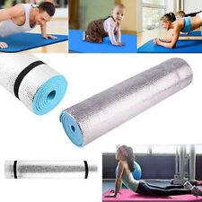 6mm Thick Non Slip Yoga Mat Fitness Exercise Lose Weight Meditation Pad Blue Gym