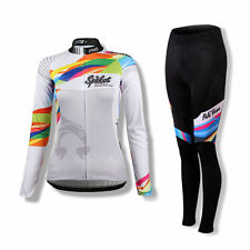 SPAKCT Women Long Sleeves Cycling Jersey Pants Tights set Bicycle Suits Provence