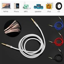 3.5mm Male to Male 1M Car Stereo Audio Auxiliary AUX Cable Cord For MP3 Phone