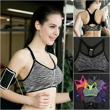 Women Stretch Seamless Sports Bra Yoga Fitness Workout Padded Crop Top Tank Vest