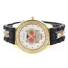Casual Female Owl Quartz Watch Popular Ladies Wrist Watches Silicone Strap Watch