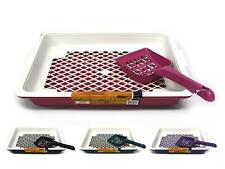 New Cat Litter Trays with Scoop for Small Cats Kitty Litter Tray 4 colours