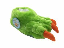 ShuCentre Unisex Green Novelty Indoor Claw Animal Bear Slippers Funny Kids Shoes