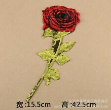 roses leaf sequins embroidered patch sew on DIY Cloth badge Valentine day GIFT