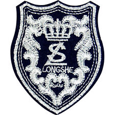 LONGSHE royal Applique army Fabric embroidered patch iron/sew on DIY Cloth badge