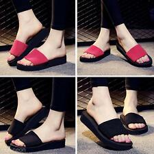 Summer Womens Platform Flip Flops Wedge Slippers Beach Casual Sandals Shoes Gift