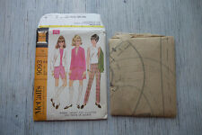 1960's VTG McCalls Misses' Jacket Top Culottes Shorts Pattern 9093 Size 12 UNCUT