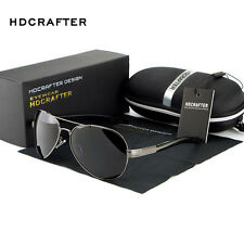 Fashion Mens Polarized Driving Aviator Brand Designer Sunglasses Glasses Shades