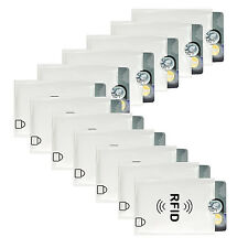 FancyStyle 12pcs RFID Blocking Card Sleeves Protector Silver Secure Card Holder
