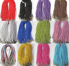Man-made Leather Braid Rope Hemp Cord Lobster Clasp Chain Necklace Jewelry 46cm