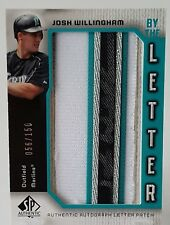 2006 UD SP AUTHENTIC JOSH WILLINGHAM AUTO LETTER PATCH #/150 THE HAMMER! MARLINS