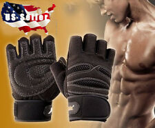 Men WeightLifting Gym Training Sports Fitness Gloves Workout Exercise Wrist Wrap