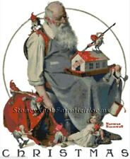 Santa & Elves ~ Norman Rockwell, Christmas ~ Counted Cross Stitch Pattern