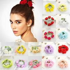 FLOWER BUN WRAP RING GARLAND HAIR CROWN DANCE BALLET BRIDAL SCRUNCHIE ACCESSORY