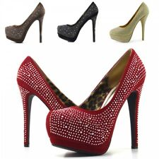 Ladies wedding party bridal diamante evening high heels court shoes,Mesh Glitter