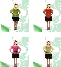 Womens/ Ladies 1980s Neon Mesh Top Ladies Fancy Dress Costume Adults Outfit.