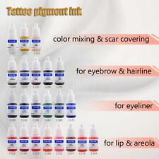 CHUSE Tattoo Pigment Permanent Makeup Color Ink Eyebrow Eyeliner Lip New C8I9