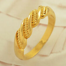 Yellow Gold Filled promise love Mens vintage Couple Love Ring,size 7 8 9 10