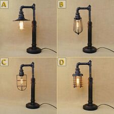 New Industrial Machine Age Steampunk Table/ Desk Lamp Indoors Pipe Light Loft