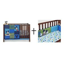 Disney Infant Baby Complete Crib Bedding Set with Bumper for Boys or Girls