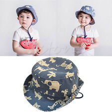 Children Boys Girls Sun Hats Spring Summer Hat Bucket Baby Kids Animals Caps New