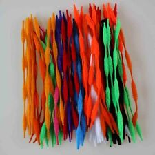 "100/200/300pcs Bump Bumpy Chenille Stems/ Pipe Cleaners 12"" Long Mixed Color DIY"