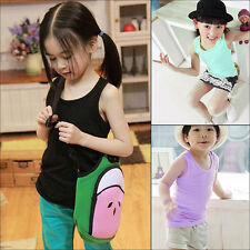 Modal Baby Toddler Kids Boys Girls Casual Tops T-shirt Vest Tank 2-7 Years Cute