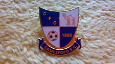 Non League Enamel Football Pin Badge. CAMELFORD FC.