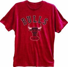 Adult Red Chicago Bulls Logo Basketball Crest Windy City Vintage T-Shirt Tee