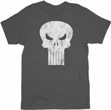 Adult Men's Marvel Comics The Punisher Charcoal Gray Distressed Logo T-shirt Tee