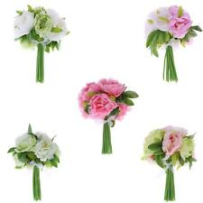 Artificial Peony Flowers Bouquet 10 Heads Festival Home Wedding Decoration T8Q6