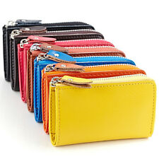 Leather Key Chain Ring Card Cash Wallet Money Holder ID Case Coin Purse Clutch
