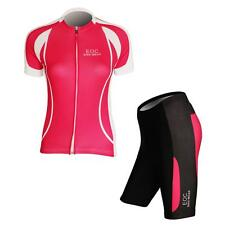 Women's Cycling  Comfortable  Short Sleeve Jersey & Shorts Bicycle Bike Sets K01